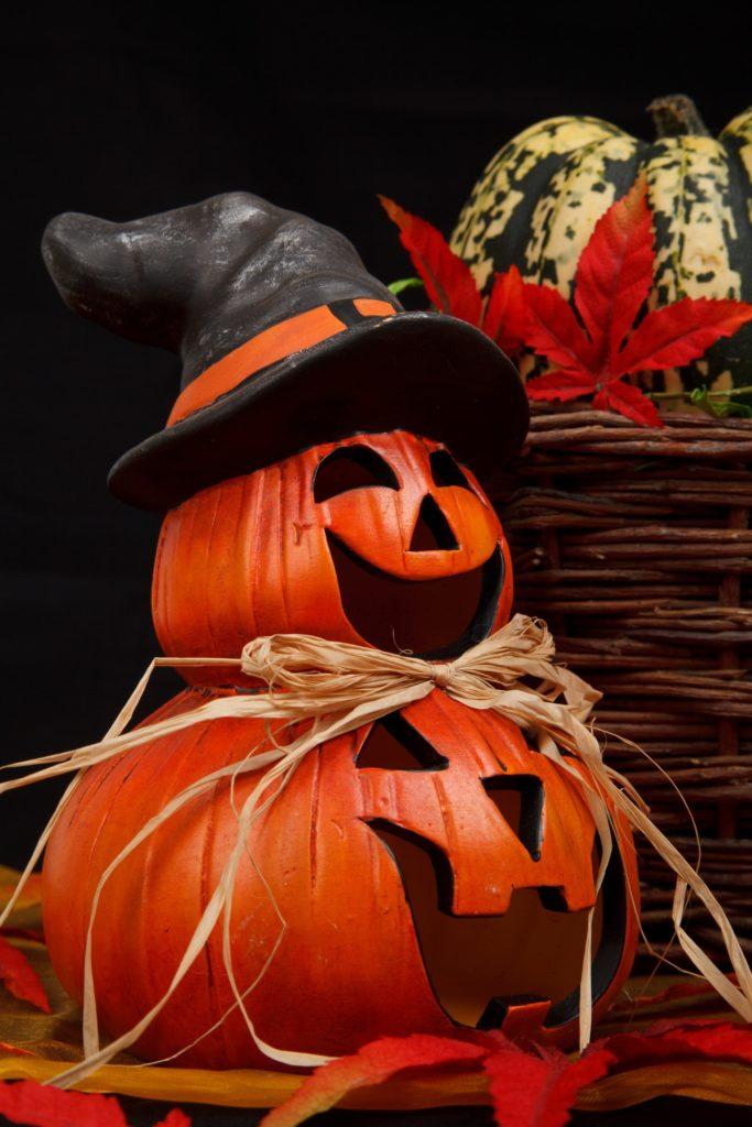 Boszorkányos halloween tök