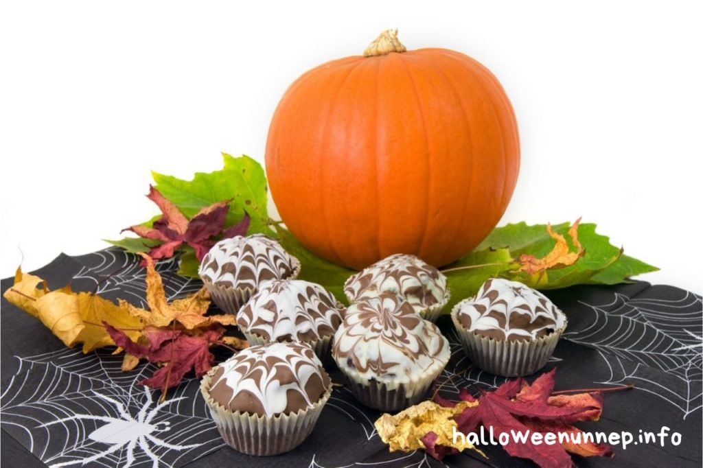 Halloween pókhálós muffin
