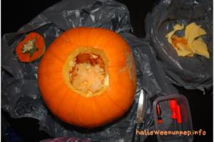 Halloween tök készítése - előkészület