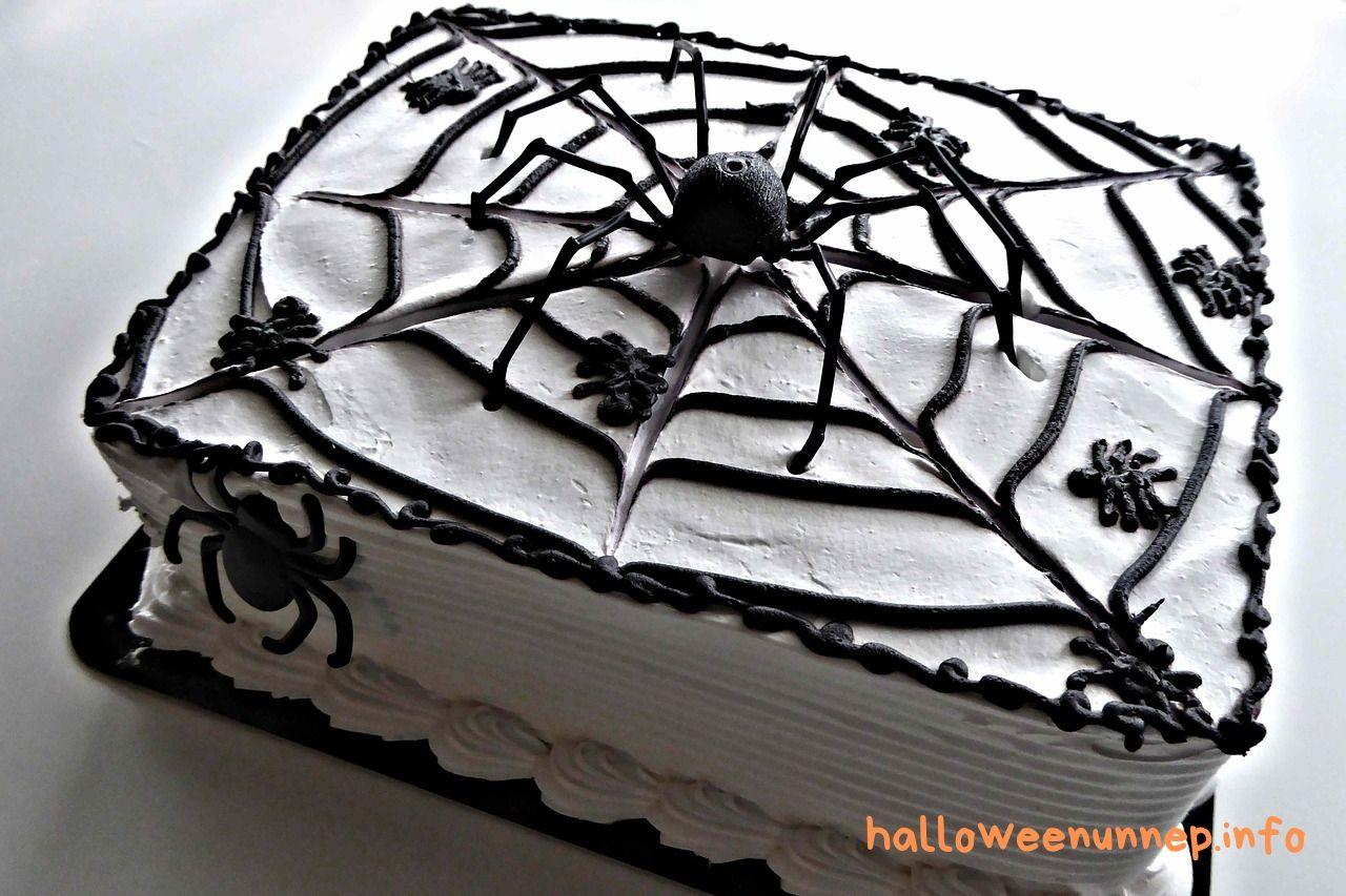 Halloween torta - fekete-fehér