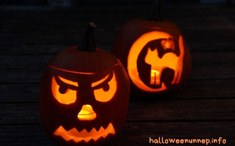 Világító halloween tök