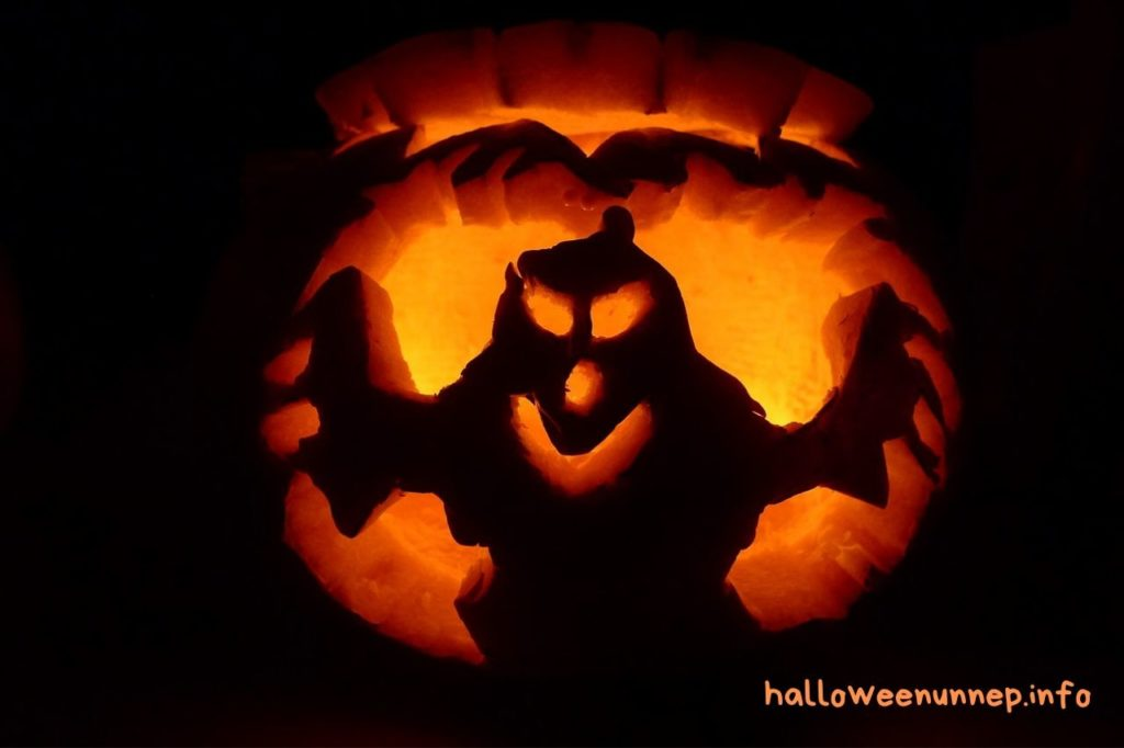 Halloween tök szellem