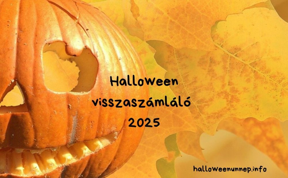 Halloween visszaszámláló 2025