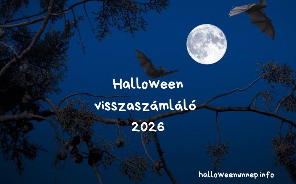 Halloween visszaszámláló 2026
