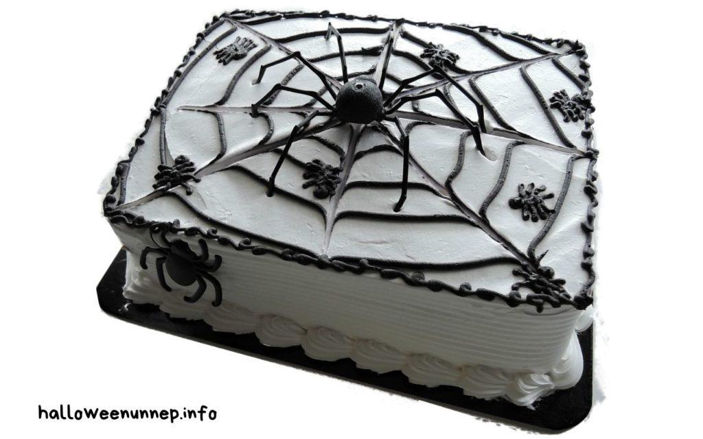 Torta pókháló mintával